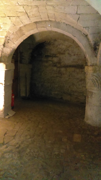 Part of the crypt under the tower
